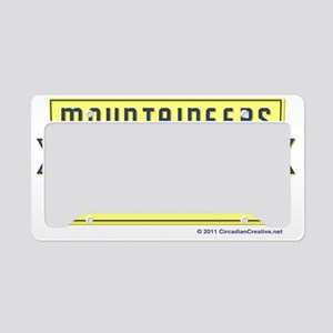 WVA_Motto_CafePress_pocket License Plate Holder