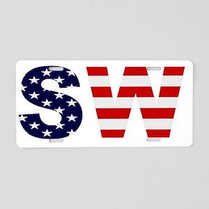 sw4crop Aluminum License Plate