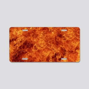 lap top skin fire_ Aluminum License Plate