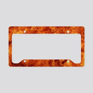 lap top skin fire_ License Plate Holder