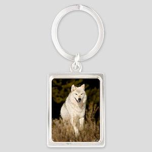 white wolf 10by Portrait Keychain