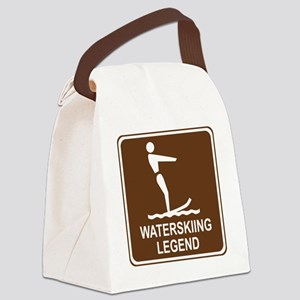 brown_water_skiing_oddsign1 Canvas Lunch Bag