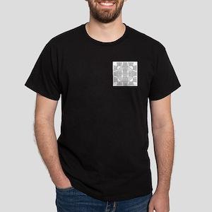 Gray Owls Design Dark T-Shirt