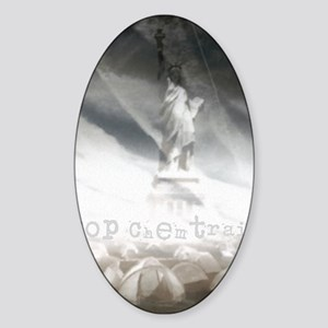 liberty chemtrails 2500Lt Sticker (Oval)