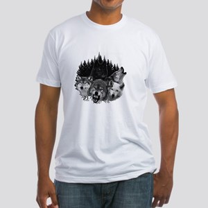 Wolves Night Moon Fitted T-Shirt