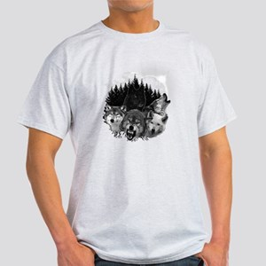 Wolves Night Moon Light T-Shirt