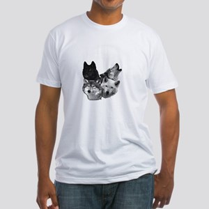 Wolves Moon 3 Fitted T-Shirt