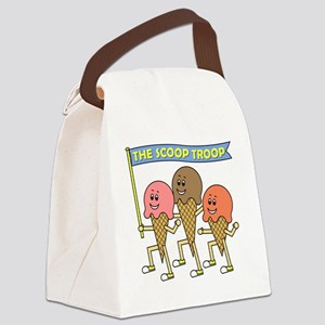 scoop_troop_dark_shirts Canvas Lunch Bag