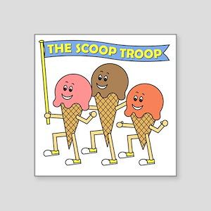 """scoop_troop_dark_shirts Square Sticker 3"""" x 3"""""""