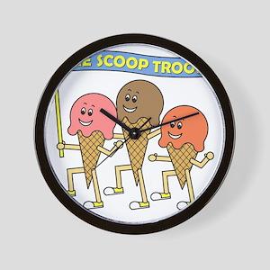 scoop_troop_dark_shirts Wall Clock