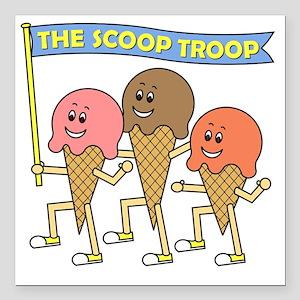 "scoop_troop_dark_shirts Square Car Magnet 3"" x 3"""