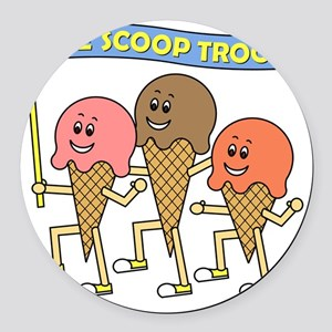 scoop_troop_dark_shirts Round Car Magnet