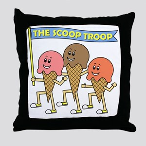 scoop_troop_dark_shirts Throw Pillow