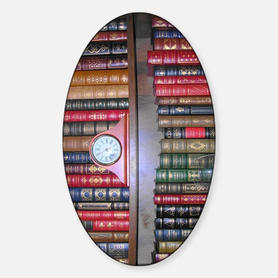 Readers Bookshelf Sticker (Oval)