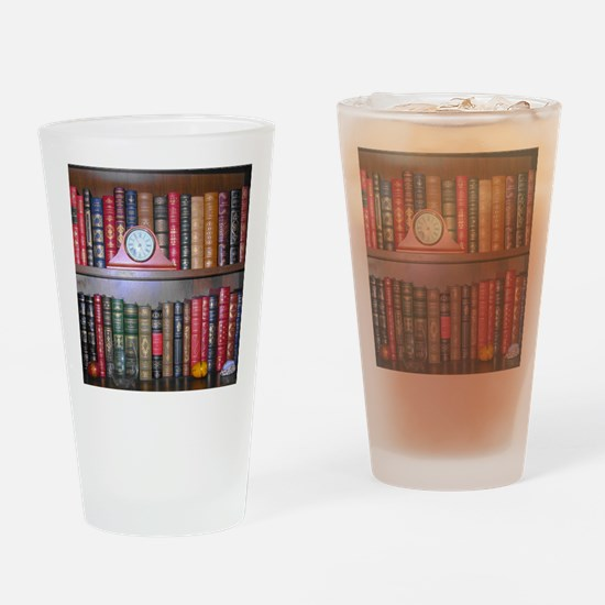 Readers Bookshelf Drinking Glass