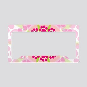 Paw Prints Flower License Plate Holder