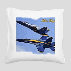 CP.Blues_142.16x20.posterize2 Square Canvas Pillow