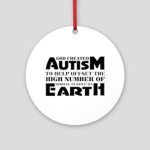 Autism support Round Ornament