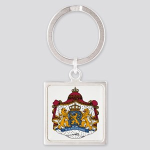 Dutch Coat of Arms Square Keychain