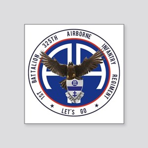 "Falcon v1 - 1st-325th Square Sticker 3"" x 3"""