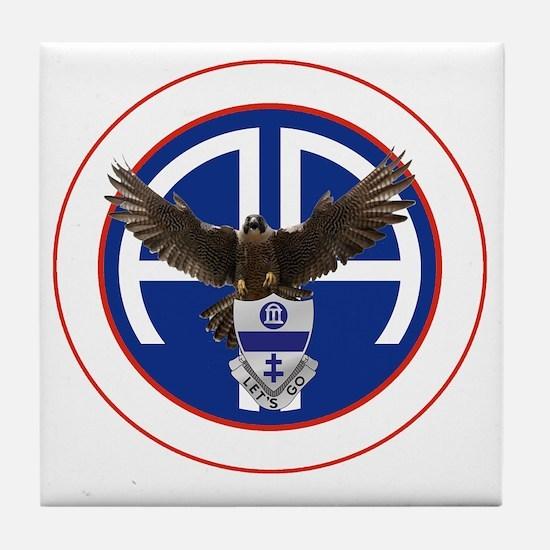 Falcon v1 - 1st-325th - white Tile Coaster