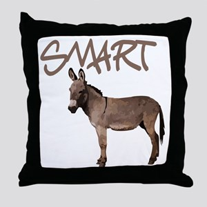 Smart Donkey1 Throw Pillow