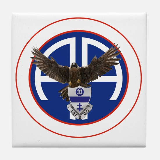 Falcon v1 - 2nd-325th - white Tile Coaster
