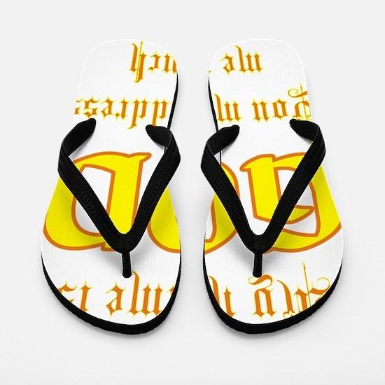 name is god Flip Flops