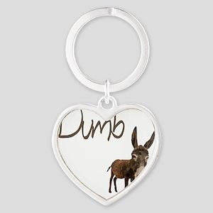 dumb_donkey Heart Keychain