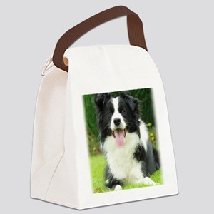 Border Collie 9A014D-14 Canvas Lunch Bag