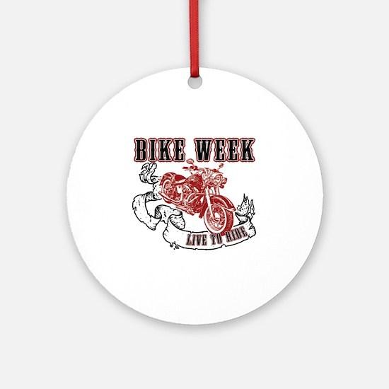 bikeweek Round Ornament