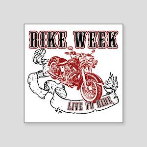 "bikeweek Square Sticker 3"" x 3"""