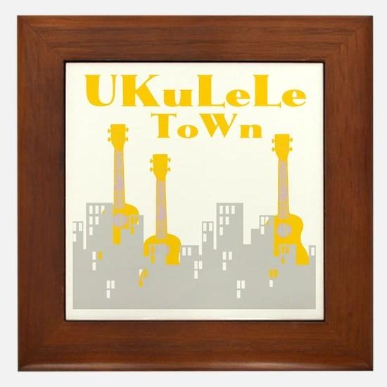 Ukulele town t-shirts Framed Tile