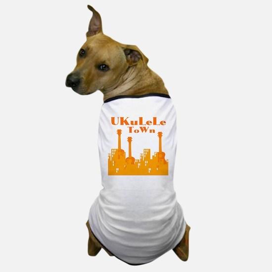 Ukulele Town Orange Dog T-Shirt