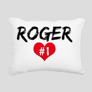 ROGER number one Rectangular Canvas Pillow
