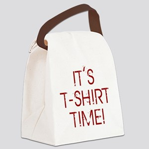 Jersey-Shore-(t-shirt-time)-red-t Canvas Lunch Bag