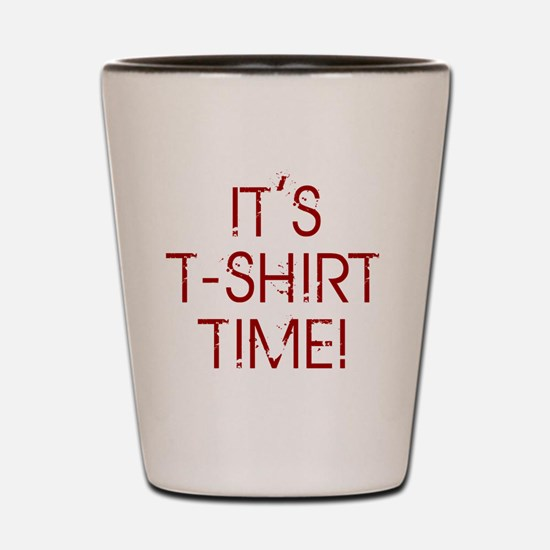 Jersey-Shore-(t-shirt-time)-red-text Shot Glass