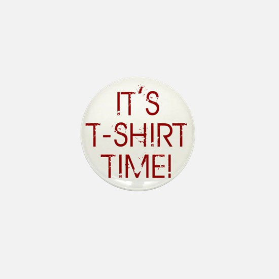 Jersey-Shore-(t-shirt-time)-red-text Mini Button