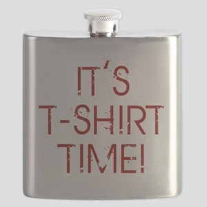 Jersey-Shore-(t-shirt-time)-red-text Flask