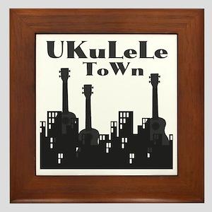 Ukulele town uke t-shirts Framed Tile