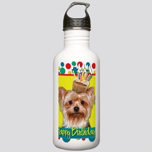BirthdayCupcakeYorkie Stainless Water Bottle 1.0L
