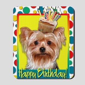 BirthdayCupcakeYorkie Mousepad