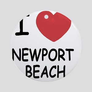 NEWPORT_BEACH Round Ornament