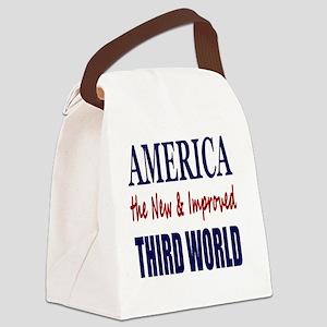 America 3rd World Lt Tshirt Canvas Lunch Bag