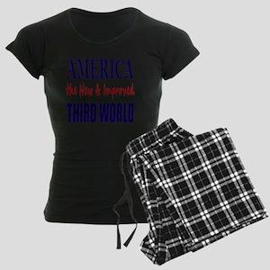 America 3rd World Lt Tshirt Women's Dark Pajamas