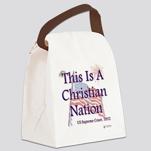 Christian Nation Canvas Lunch Bag
