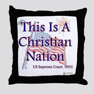 Christian Nation Throw Pillow