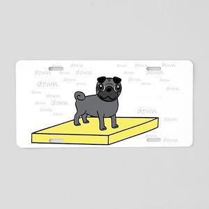 Table-Pug-Black-DK Aluminum License Plate