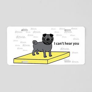 Table-Pug-Black Aluminum License Plate