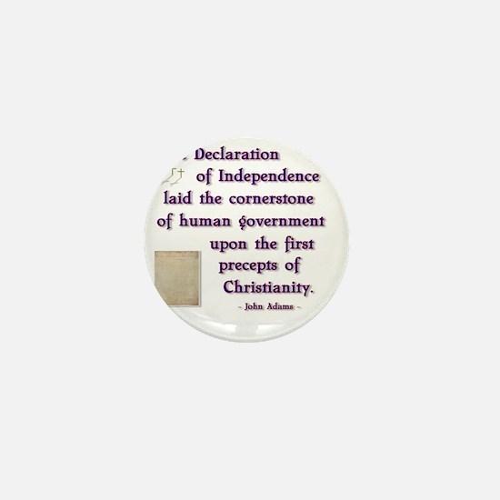 declaration cornerstone Mini Button